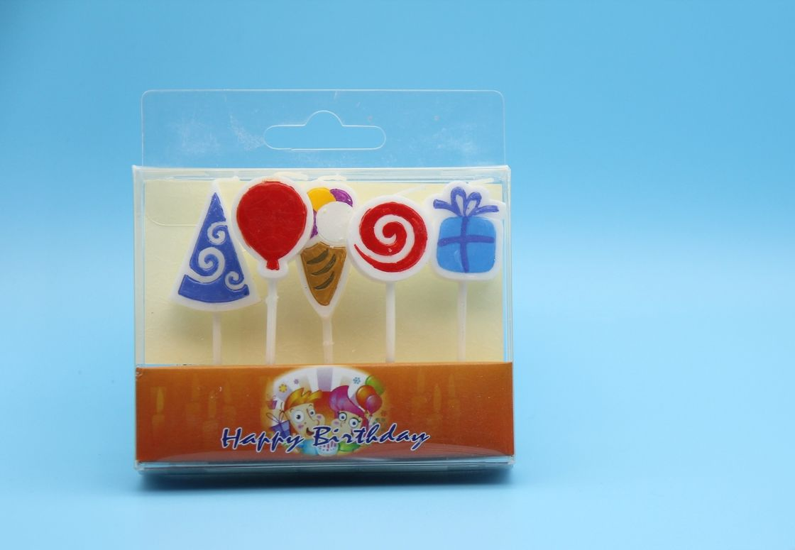 Mini Pizza Shape Personalized Birthday Candles , Unusual Birthday Cake Candles