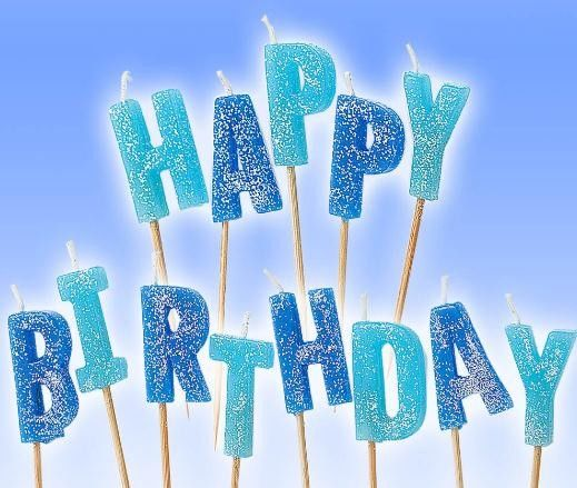 Glitter Letter Shaped Birthday Candles 100% Paraffin Non Toxic For Celebration